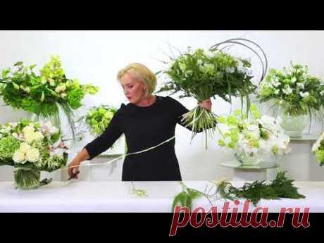 Мастер-класс Марины Петровой: спиральная техника на примере белых букетов - YouTube