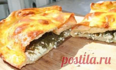 Пирог с творогом и зеленью - пошаговый рецепт с фото на Повар.ру