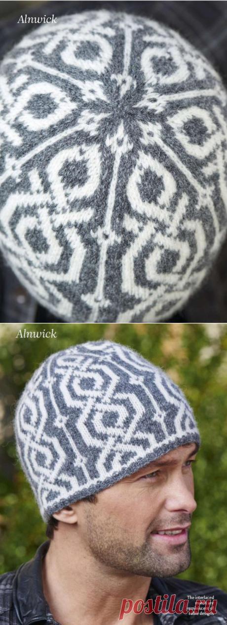 Мужская жаккардовая шапка спицами Alnwick. | Мамины-ручки.рф