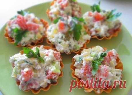 Салат из слабосоленой семги | Рецепты Вкусных Блюд