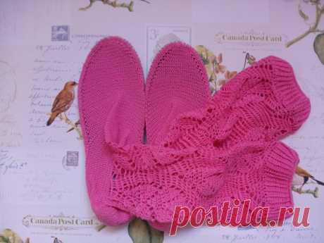Стильные вязаные сапоги для девушки./Stylish от FashionLoop
