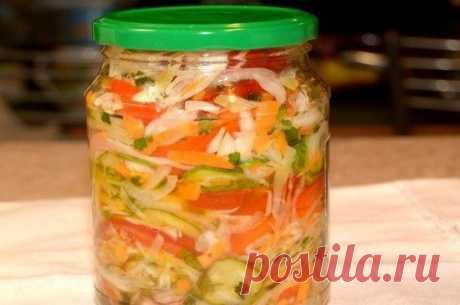 Пикантный и свежий салат на зиму с хрустинкой!