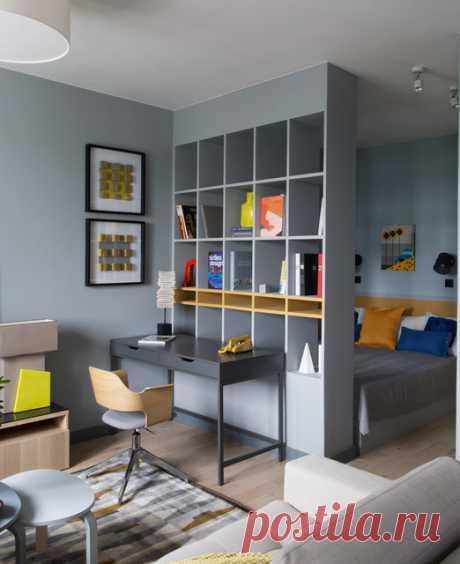 Что лучше: Стены или стеллажи для зонирования комнаты? Как правильно разделить комнату стеллажом или шкафом и не превратить ее в советскую коммуналку