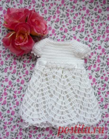 Вяжем платье для паолочки (Кукла Paola Reina 32 см) / Вязание для кукол / Бэйбики. Куклы фото. Одежда для кукол