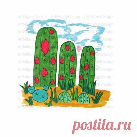 Cactus Sublimation Designs Cactus png Downloads Sublimation   Etsy