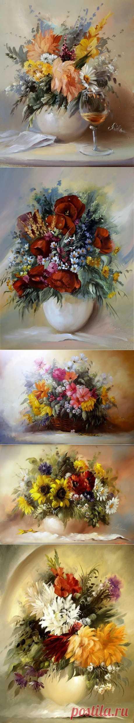 Цветы, цветы, цветы! В них столько красоты… Художник Szechenyi Szidonia