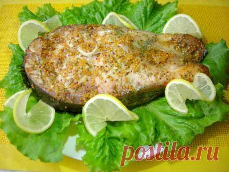 Запеченный стек толстолобика в медово-горчичном Маринаде — Кулинарная книга