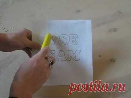 Шаблон для копировального станка - Поделки своими руками