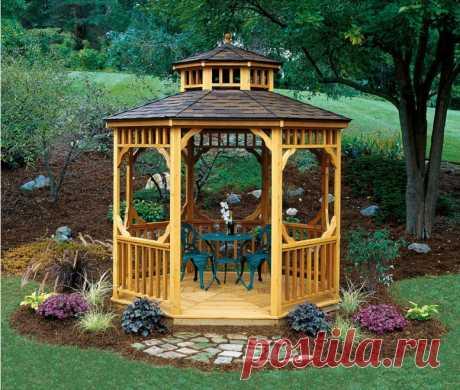 100 лучших идей: Дачные и садовые беседки на (проекты на фото)