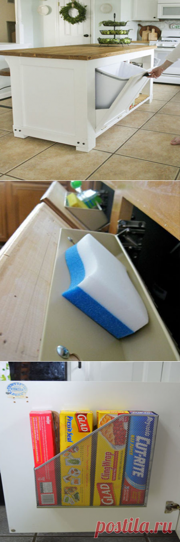 15 гениальных идей для хранения вещей на кухне