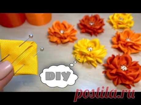 Самые ПОПУЛЯРНЫЕ бантики из лент Цветы из репсовой ленты 4 см