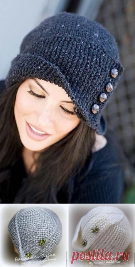 Как связать красивую и актуальную шапочку (2 варианта с описанием) | Рукоделие