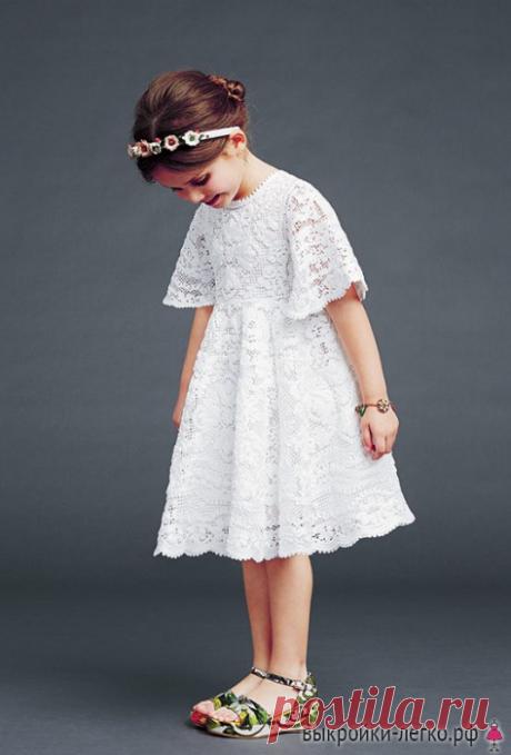 Платья для девочек. Инструкция по распечатке выкройки и последовательность пошива | Шить просто — Выкройки-Легко.рф