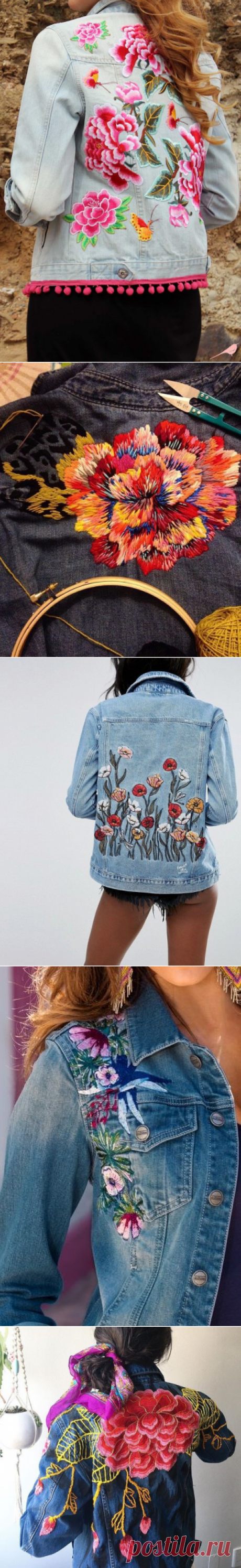 The embroidered jeans jackets \/ the Embroidery \/ Second Street