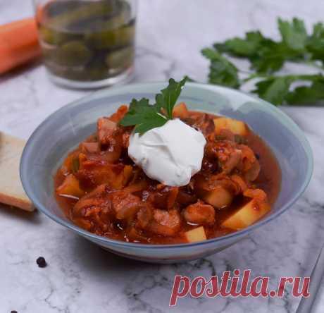 Солянка с колбасой в мультиварке - пошагово с фото от Maggi.ru