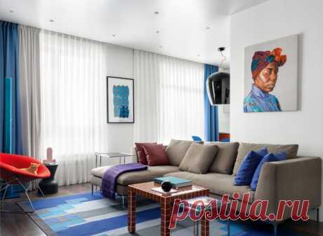Квартира с яркими деталями   Роскошь и уют