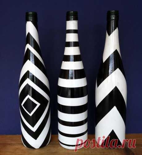 Идеи творчества из стеклянных бутылок