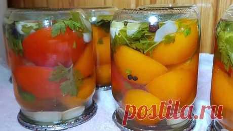 Рецепт невероятно вкусных помидор! Рецепт спрашивают все, кто пробовал.