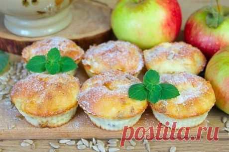 Творожные кексы с яблоками и семечками — Sloosh – кулинарные рецепты