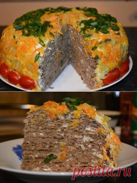 Тортик из куриной печени. Автор: Надежда Илиади