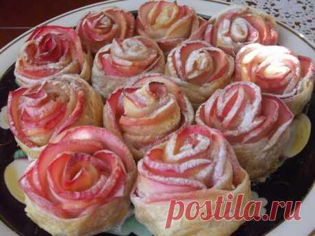 """Яблочное пирожное - """"Букет роз""""."""