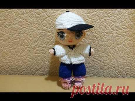 Кепка для куклы LOL вязаная крючком.