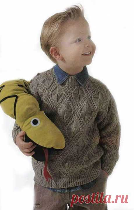 Вязаный пуловер для мальчика.