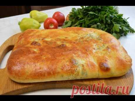 ДАЖЕ ОСТЫТЬ НЕ ДАДУТ, ДО ТАКОЙ СТЕПЕНИ ВКУСНО И АРОМАТНО Хлеб лепешка с сыром и укропом