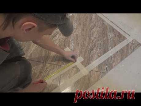 Быстрая подрезка плитки по диагонали!!! Интересный метод!!!