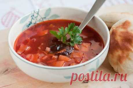3 recipes of easy and tasty fast borsch \/ Simple recipes