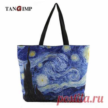 "Cумка: картина Ван Гога ""Звездная ночь"" (AliExpress)"