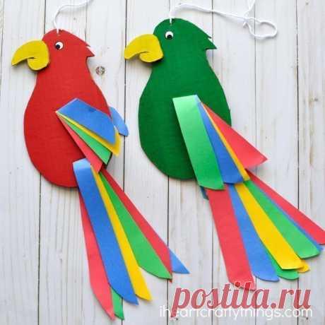 Поделка «попугай» — Поделки с детьми