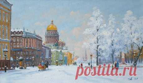 "«Painting ""Saint Isaac's Cathedral"" - buy on ArtNow.ru» — карточка пользователя i.gorbachyowa в Яндекс.Коллекциях"