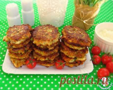 Кабачковые оладьи с брынзой и плавленым сыром Кулинарный рецепт