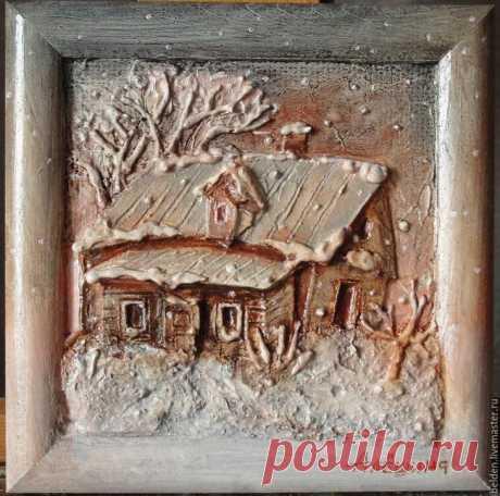 Объемные картины из картона Хотите домик в деревне? Это не просто картинка, это рельеф, который захочется потрогать. Создать рельеф с изображением деревенского домика совсем не трудно. Данная методика опробована в художественной...