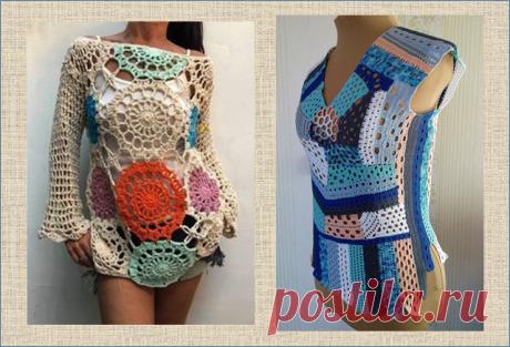 Оригинальные бохо-наряды из мотивов, связанных крючком - для смелых модниц | МНЕ ИНТЕРЕСНО | Яндекс Дзен