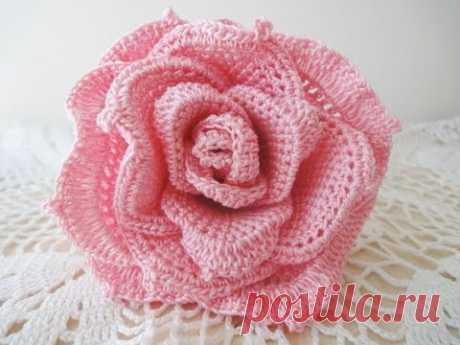 Большая роза Часть 1 Rose Crochet Part 1