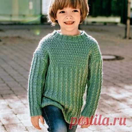 Вязание классической кофты для мальчика