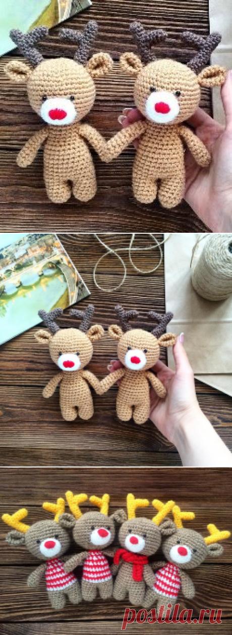 Оленята амигуруми крючком: схема вязания игрушки   AmiguRoom