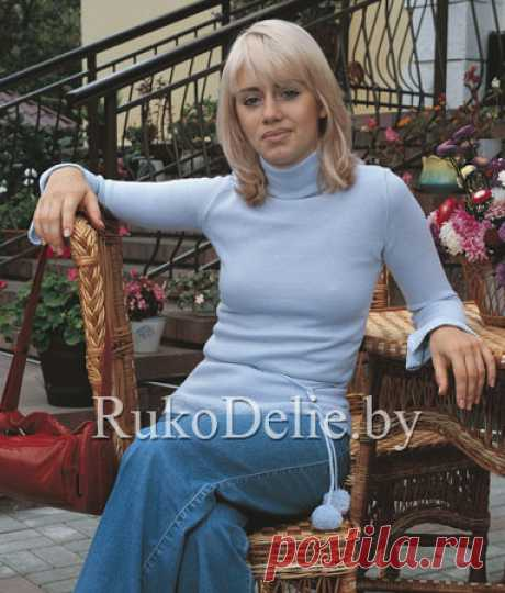 Вязаный на машине Нева женский пуловер-гольф :: Модели женской одежды :: Машинное вязание/Women's clothes for knitting machine :: RukoDelie.by