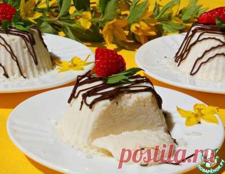Холодный кокосовый десерт – кулинарный рецепт