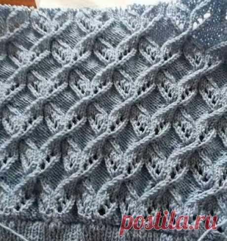 1000 ажурных узоров спицами (часть 29) | Южная сова | Яндекс Дзен