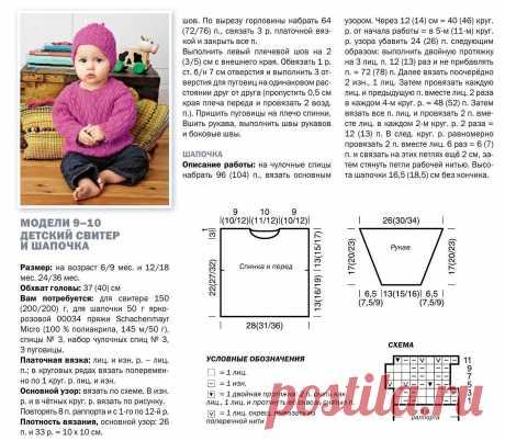 Детский свитер и шапочка - Для детей до 3 лет - Каталог файлов - Вязание для детей