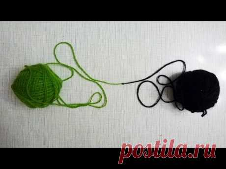 Как завязать ткацкий узел, который проходит в игольное ушко