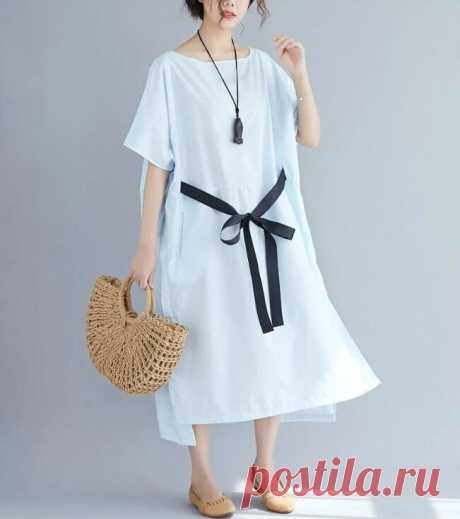 White Summer Beach Style Bow Sundress Big Size Female Lady Loose Solid - idetsnkf