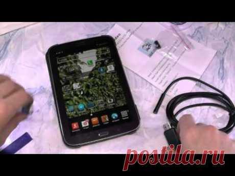 Посылка. Эндоскоп мини-usb изображение на смартфоне, тест