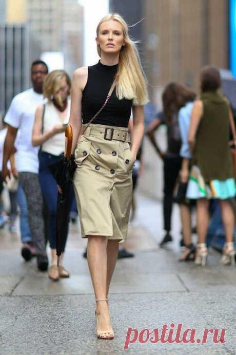 Как просто сшить модную юбку на пуговицах в стиле сафари | модница | Яндекс Дзен