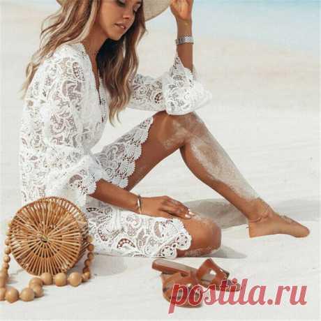 Пляжные платья, туники и накидки на Алиэкспресс. 83 товара   Алиэкспресс Обзор
