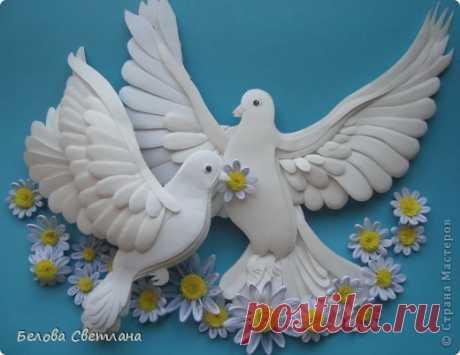 Голуби ко дню любви, семьи и верности | Страна Мастеров