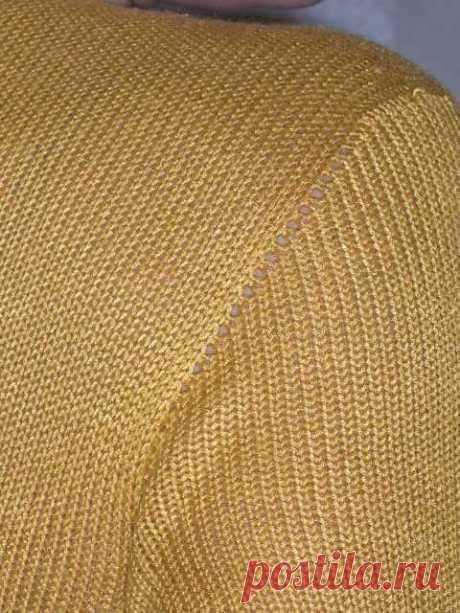 Вязание втачного рукава без шва ( Уроки и МК по ВЯЗАНИЮ) – Журнал Вдохновение Рукодельницы